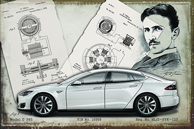Tesla model S classic design drawing 2