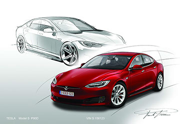 Tesla model S facelift design 1