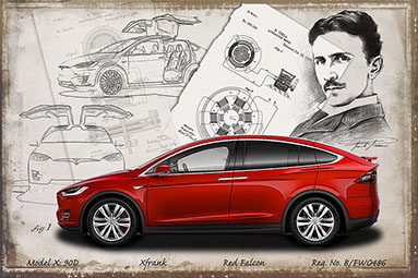 Tesla model X  design drawing 2